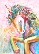 Rainbow Unicorn by Emma Kaufmann