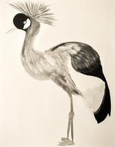 Tessa's Royal Crane by Bari Greenfield