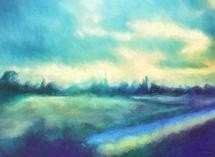 Landscape at Daybreak by Rebecca Rueth