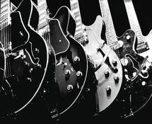 Guitars, Monochrome by Aure