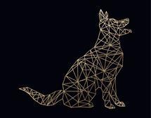 Geo Dog by Marsha Gray Carrington