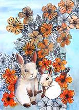 Flower Power Bunnies by Emma Kaufmann