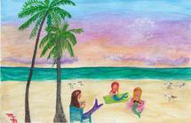 Mermaids on the Beach i... by Marie Barletta