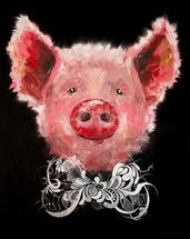 Rose Pig by Maria Bazarova
