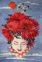 Gaisha flower girl by Cathleen Earle