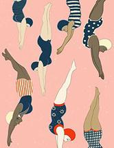 Diving ladies by Cecilia Granata
