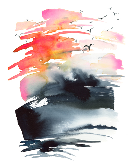 art prints - Stormy Sunset by Jean Choe Art and Design