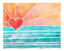 Heart Sun - Sunny Days by Kelly Coral