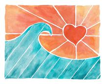 Heart Sun - Coral Skies by Kelly Coral