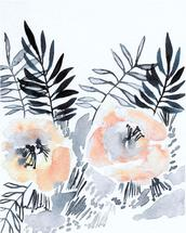 blush blooms duo by Kara Aina
