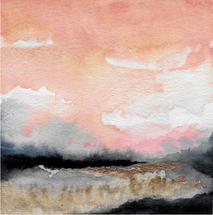 coral skies landscape by Kara Aina