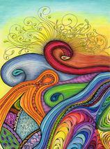 Sunrise Swirl by Ronni L Brown