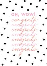 Congrats Flirty and Fun by Paper Etiquette