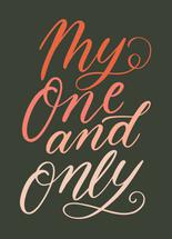 My One and Only by Ilana Griffo
