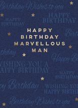 Marvellous Man Birthday... by Janelle Williams