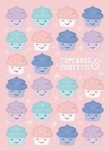 Cupcakes & confetti by Sugar Pie Paper