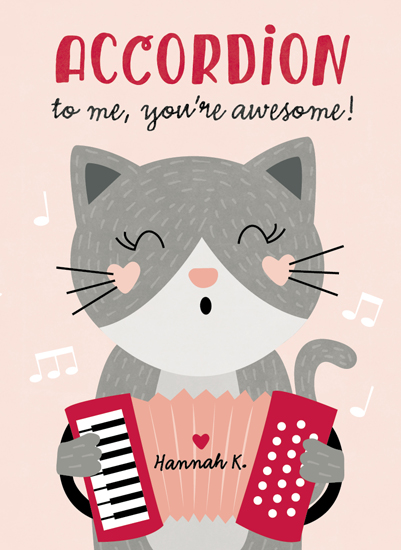 valentine's cards - Accordion to Me by Erica Krystek