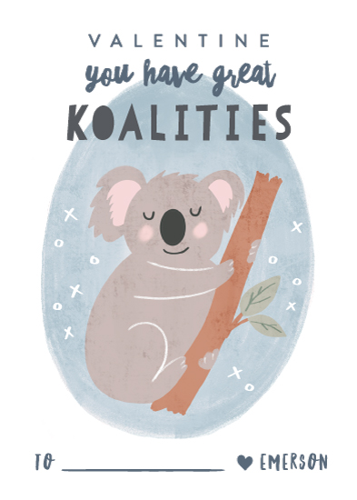 valentine's cards - Great Koalities by Creo Study