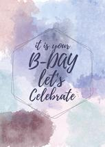 Watercolor Bday Card by Mary Revina