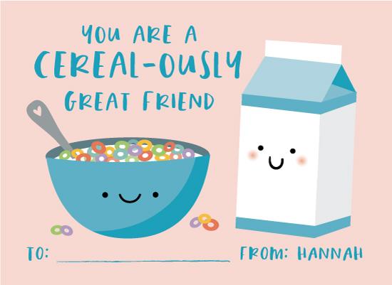valentine's cards - Cereal & Milk by Annie Holmquist