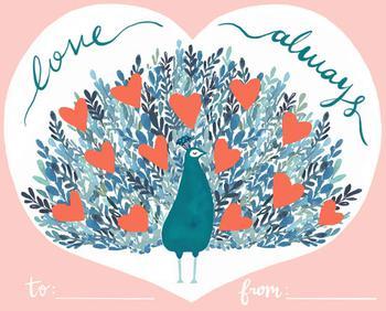 Peacock Bloom Love Always 2