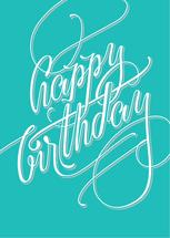 Hand Lettering Happy Bi... by Janice Rudan