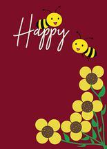 Happy Bee by Weldon Quindala