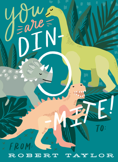 valentine's cards - You are Dino-mite! by Alethea and Ruth