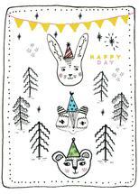 Birthday Animals by Faiza Khan