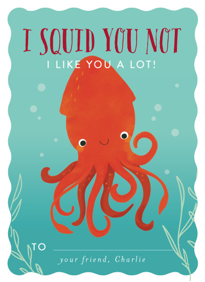 valentine's cards - Squid You Not by Itsy Belle Studio