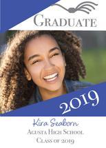 Graduate in Blue Modern by Kristen Niedzielski