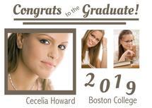 Congrats Grad Card by Kristen Niedzielski