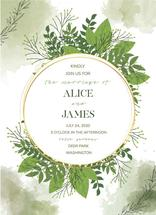Round Olive Wedding Inv... by Mary Revina