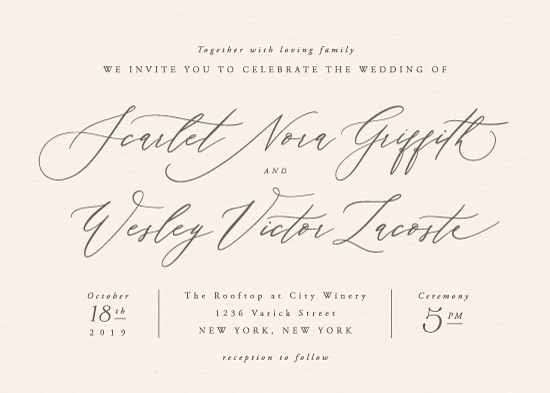 wedding invitations - Scarlet by Hooray Creative