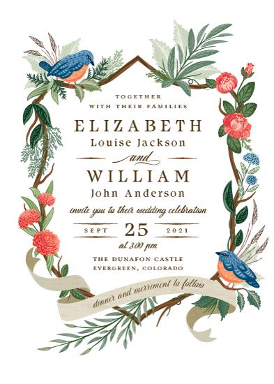 wedding invitations - Nature's Crest by Paper Sun Studio