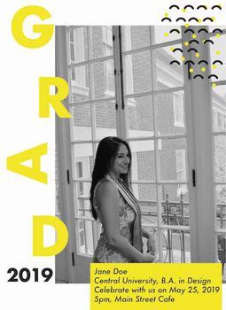 Bold & Modern Graduation Card