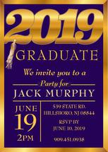 Shiny grad invite by Cheri Moran