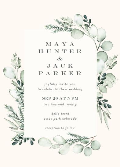 wedding invitations - Gentle Greens by Petra Kern