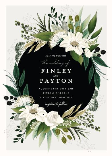 wedding invitations - Botanical Ring by Susan Moyal