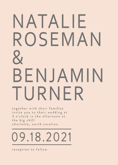 wedding invitations - Malibu by Alethia Frye