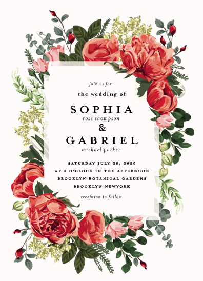 wedding invitations - Peonies Forever by Susan Moyal