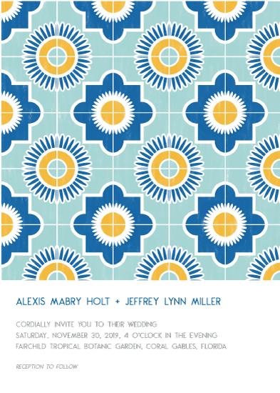 wedding invitations - Spanish Tile by Gigi and Mae Studios