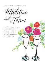 Champagne Toast by Cake and Flower Paper