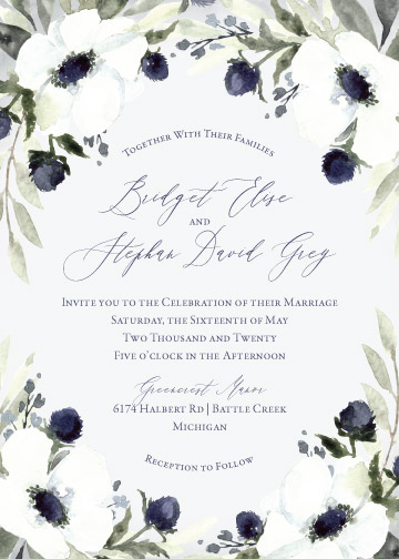 wedding invitations - Whimsical Anemone by Blushed Design
