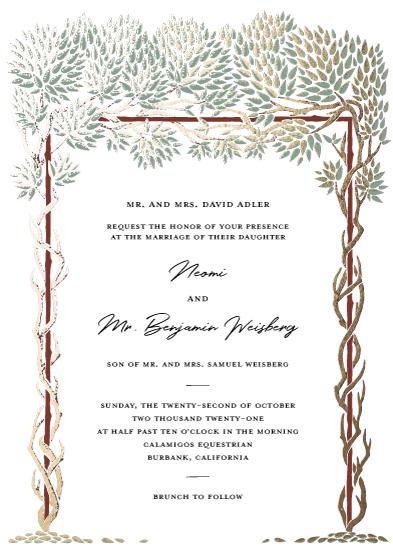 wedding invitations - Gold Leaf'd by Gigi and Mae Studios