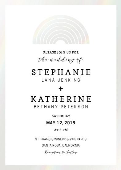 wedding invitations - Iridescent Rainbow by Cody Alice Moore