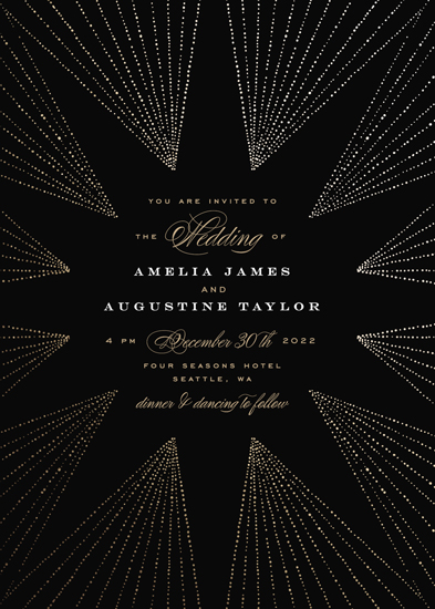 wedding invitations - Starburst by Alethea and Ruth