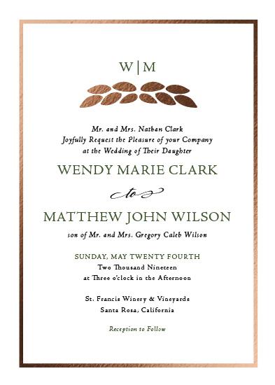 wedding invitations - Leaf Monogram by Cody Alice Moore