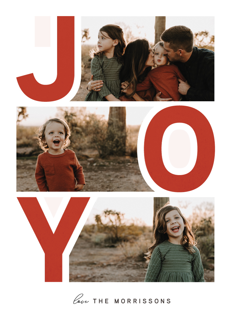 holiday photo cards - Colossal Joy by Kayla King