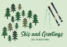 Skis and Greetings by Jessica Kelemen